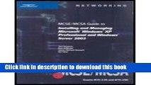 Read MCSE/MCSA Guide to Installing   Managing Microsoft Windows XP Professional   Windows Server