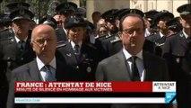 Attentat de Nice - Minute de silence dans toute la France et Marseillaise en hommage aux victimes