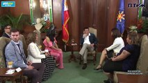 Courtesy call of reigning Miss Universe Pia Wurtzbach on President Rodrigo Duterte