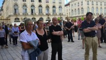 Nancy : Minute de silence place Stanislas, en hommage aux victimes de l'attentat de Nice