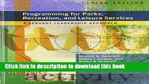 [PDF] Programming for Parks, Recreation, and Leisure Services: A Servant Leadership Approach