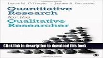 Read Books Quantitative Research for the Qualitative Researcher ebook textbooks