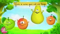 Pomme pêche poire abricot