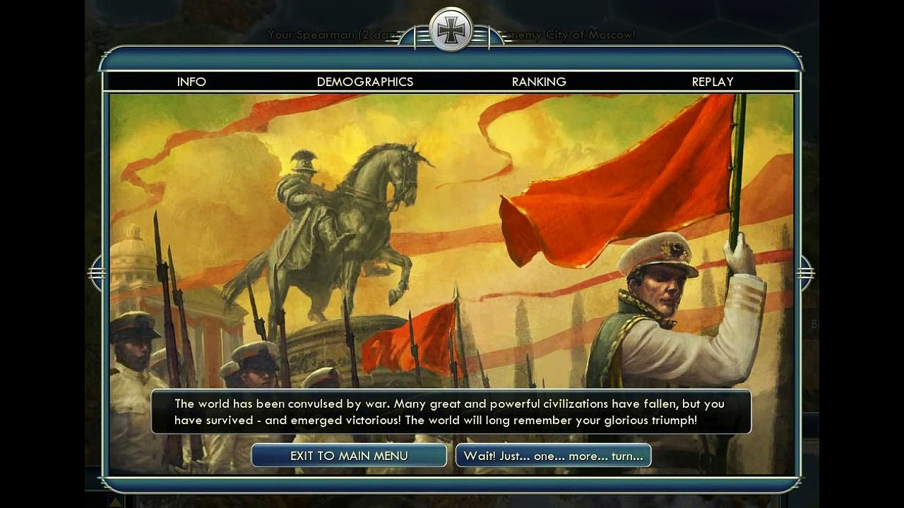 Civilization 5 All Victories / Victory Quotes / Loss Screen