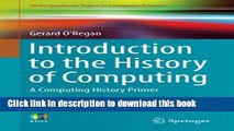 Read Introduction to the History of Computing: A Computing History Primer (Undergraduate Topics in