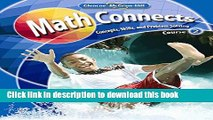 Read Math Connects: Concepts, Skills, and Problems Solving, Course 2, Student Edition (MATH