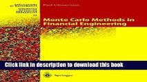 Read Monte Carlo Methods in Financial Engineering (Stochastic Modelling and Applied Probability)