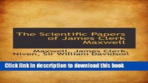 Read Books The Scientific Papers of James Clerk Maxwell ebook textbooks