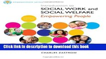 Read Brooks/Cole Empowerment Series: Introduction to Social Work and Social Welfare  Ebook Free