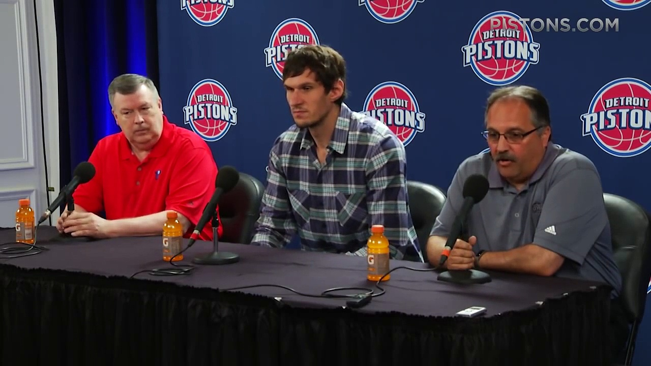 Boban Marjanovic – Introductory Press Conference – Detroit Pistons 2016 NBA Free Agency