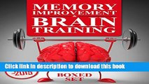 Download Memory Improvement   Brain Training: Unlock the Power of Your Mind and Boost Memory in 30