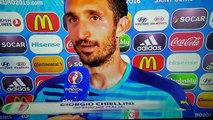Italia Spagna 2 0 intervista Giorgio Chiellini Euro 2016
