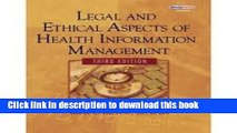 [PDF] Legal and Ethical Aspects of Health Information Management 3th (third) edition Download Full