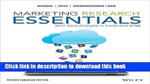 Read Marketing Research Essentials, 2nd Canadian Edition Ebook Free