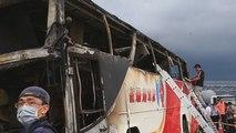 Un incendio en un autobús causa la muerte de al menos 26 turistas chinos