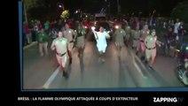 Brésil : il tente d'éteindre la flamme olympique avec un extincteur