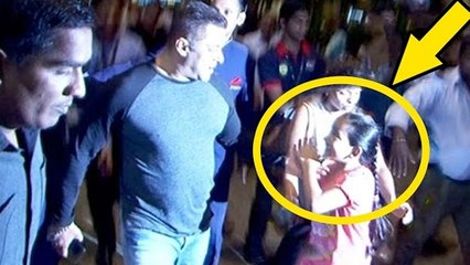 Salman Khan's Crazy Little FAN Hold His Hand At Airport