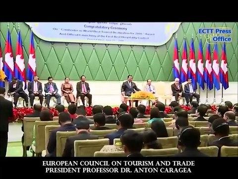 EUROPEAN COUNCIL PRESIDENT ANTON CARAGEA OPENS WORLD TOURISM AWARDS CEREMONY 2016