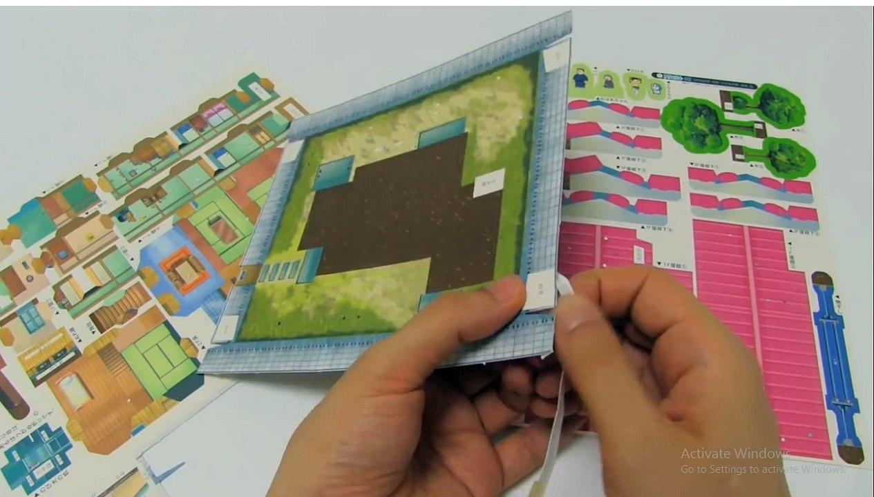 Diy Doraemon House Paper Craft Video Dailymotion