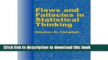 Download Books [ [ [ Flaws and Fallacies in Statistical Thinking[ FLAWS AND FALLACIES IN