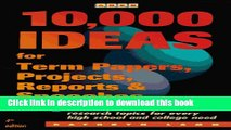 [PDF] 10,000 Ideas for Term Papers, Projects, Reports   Speeches (Arco 10,000 Ideas for Term