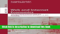 Read Web and Internet Economics: 11th International Conference, WINE 2015, Amsterdam, The