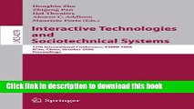 Read Interactive Technologies and Sociotechnical Systems: 12th International Conference, VSMM