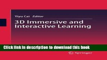Read 3D Immersive and Interactive Learning Ebook Free