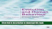 Read Evolution and Human Behaviour: Darwinian Perspectives on Human Nature - DISTRIBUTION