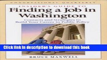 Read Insider s Guide to Finding a Job in Washington: Contacts and Strategies to Build Yoru Career
