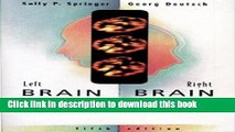 Download Book Left Brain, Right Brain: Perspectives From Cognitive Neuroscience (Series of Books