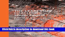 [PDF] The Leadership Coaching Sourcebook: A Guide to the Executive Coaching Literature Read Full