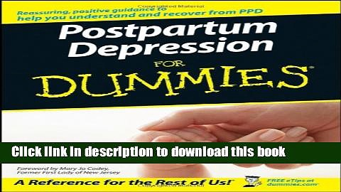 Read Postpartum Depression For Dummies  Ebook Online