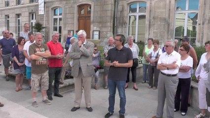Chambly rassemblement après l'attentat de Nice