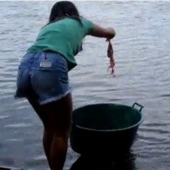 Una manera de pescar muy original