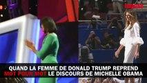 Quand Melania Trump s'inspire fortement d'un discours de Michelle Obama