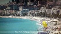 Nicea trzy dni po dramacie Promenada plaża nad Zatoką Aniołów Nice Nizza 3 days after 14.07.2016