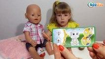 ✔ Кукла Беби Борн. Девочка Ника распаковывает Киндер Сюрпризы / Видео для детей / Baby Born Doll ✔