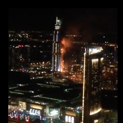 An incredible fire in Dubai!