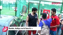 Ranbir Kapoor & Aditya Roy Kapur click pictures with their fans - Bollywood News