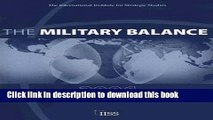 Read Book The Military Balance 2006 (Military Balance) E-Book Free