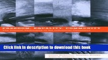 [PDF] Freedom, Equality, Community: The Political Philosophy of Six Influential Canadians