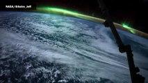 De magnifiques aurores boréales observées de l'espace