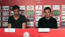 Conférence de presse avec Grégory Lorenzi et Julien Faussurier