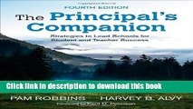 Read Books The Principal s Companion: Strategies to Lead Schools for Student and Teacher Success