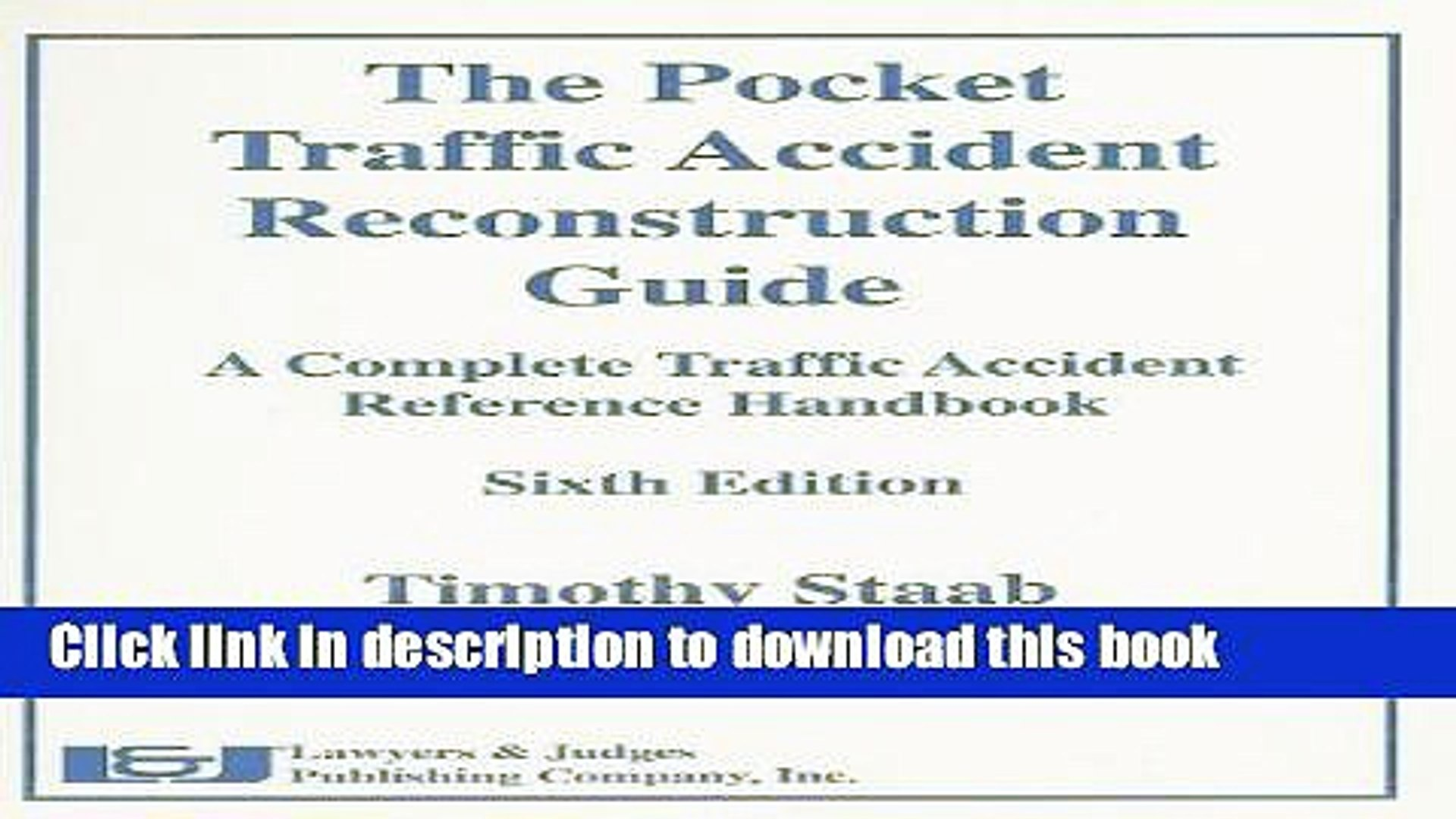 traffic accident reconstruction manual ebook