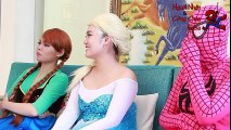 Spiderman -u0026 Frozen Elsa vs Doctor w-_ Spiderman -u0026 Frozen Elsa, Pink Spidergirl, Frozen Anna, Doctor!