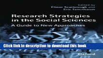 Read Books Research Strategies in the Social Sciences: A Guide to New Approaches ebook textbooks