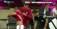 Frank Ribery probleme with tshirt - Bayern Munich 0-0 Manchester City - 20-07-2016