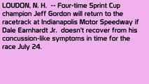 Jeff Gordon to get behind wheel if Dale Earnhardt Jr. can't race at Brickyard